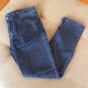Merona polka dot ankle skinny jeans